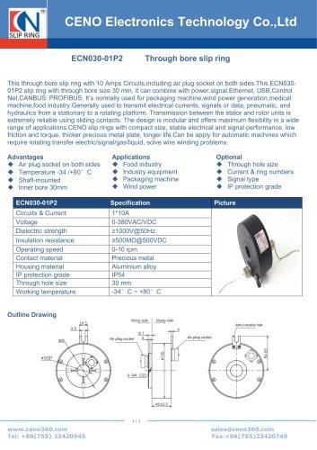 CENO Through bore 30mm slipring assembly ECN030-01P2