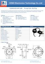 CENO Through bore slip ring with 80mm hole ECN080-02P2-03P1-09S - 1