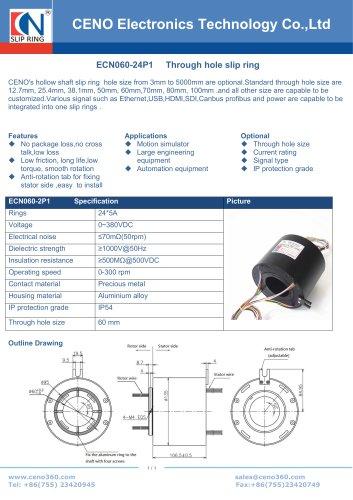CENO Through hole slip ring with 60mm hole ECN060-24P1
