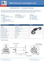 CENO Through hole slip ring for crane ECN038-03P1-36S - 1