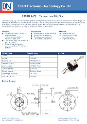 CENO Through hole slip ring ECN012-24P1