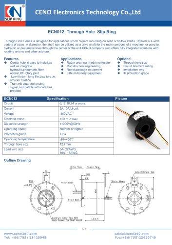 CENO Through Hole  Slip Ring ECN012