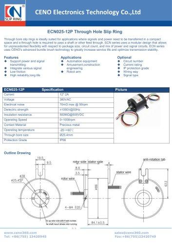 CENO Through Hole Slip Ring ECN025-12P