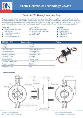CENO Through hole slip ring ECN025-12P3