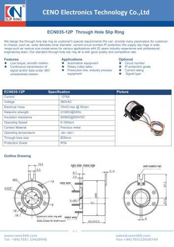 CENO Through Hole Slip Ring ECN035-12P