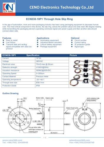 CENO Through hole slip ring ECN038-18P1