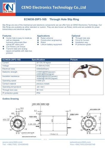 CENO Through Hole Slip Ring ECN038-20P3-16S