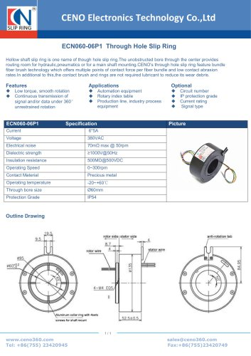 CENO Through Hole Slip Ring ECN060-06P1
