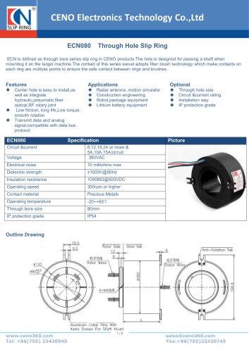 CENO Through Hole Slip Ring ECN080