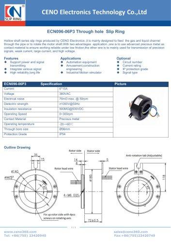 CENO Through Hole Slip Ring ECN096-06P3