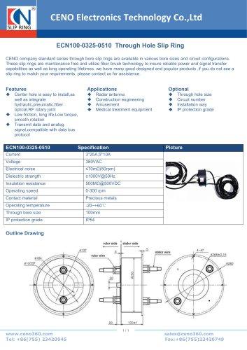 CENO Through Hole Slip Ring ECN100-0325-0510
