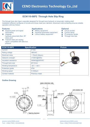 CENO Through Hole Slip Ring ECN110-06P2
