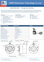 CENO Through hole slip ring with flying lead ECN038-04P-0803 - 1