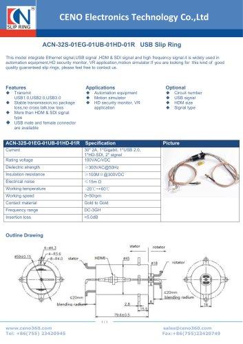 CENO USB slip ring ACN-32S-01EG-01UB-01HD-01R