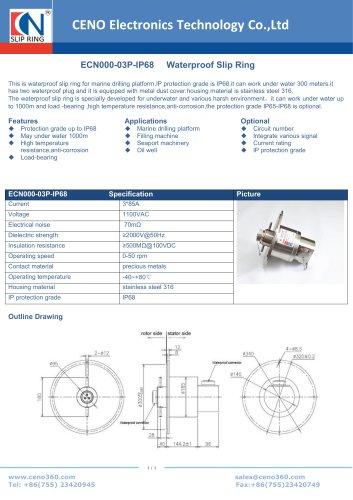CENO Waterproof Slip Ring ECN000-03P-IP68