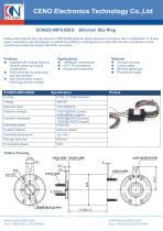 Gigabit slip ring with 25.4mm through hole ECN025-08P2-02EG - 1