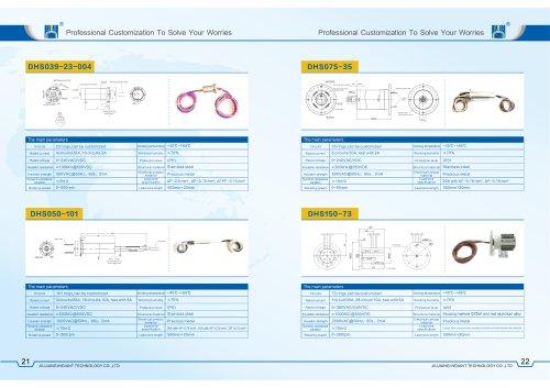 customized flange install slip ring