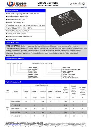FA10-220SXXE2 Series