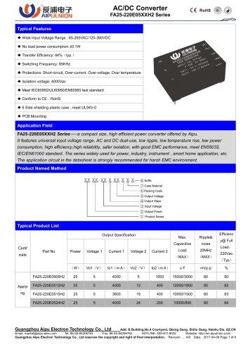 FA25-220E05XXH2 Series