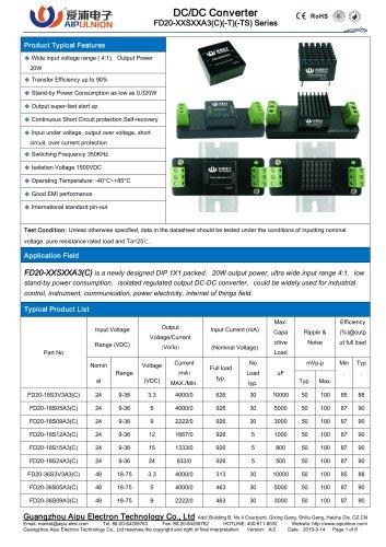 FD20-XXSXXA3(C) Series