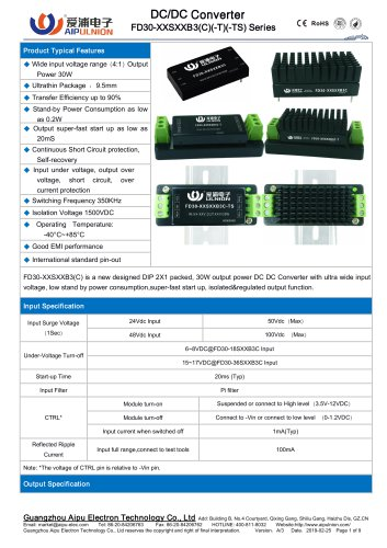 FD30-XXSXXB3(C) Series