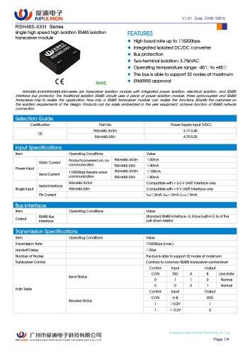 RSH485-XXH Series