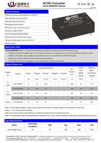 UA10-220SXXP2 Series
