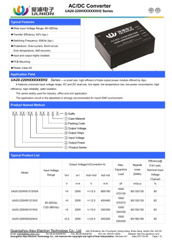 UA15-220H05XXXXF2 Series