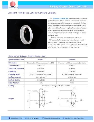 CreatorOptics Crescent Lens, Meniscus Lens, custom
