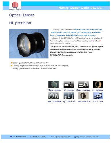 CreatorOptics Custom Optical Lens Series
