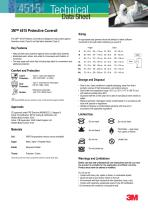 3M™ 4515 Protective Coverall Technical Datasheet - 1