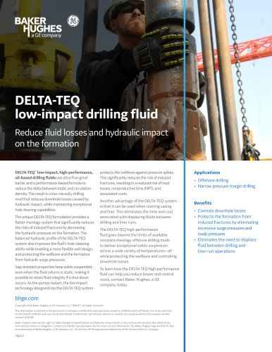 DELTA-TEQ low-impact drilling fluid