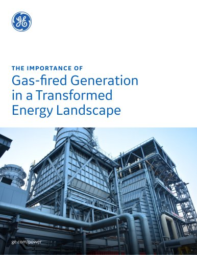 THE IMPORTANCE OF Gas-fired Generation in a Transformed Energy Landscape
