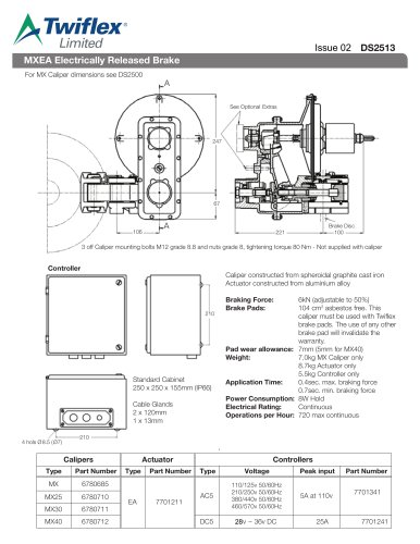 DS2513 MXEA Electrically Released Brake