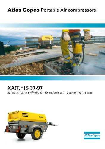 XA(T,H)S 37-97 32 - 89 l/s, 1.9 - 5.3 m3/min, 67 - 190 cu.ft/min at 7-12 bar(e), 102-175 psig