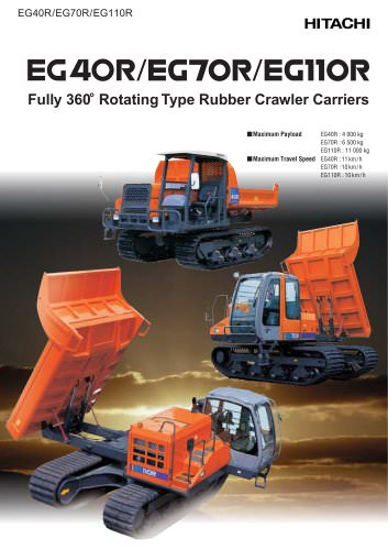EG40R/EG70R/EG110R - Rubber Crawler Carriers