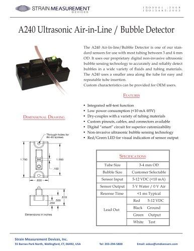 A240 Bubble Sensor / Air-In-Line Sensor