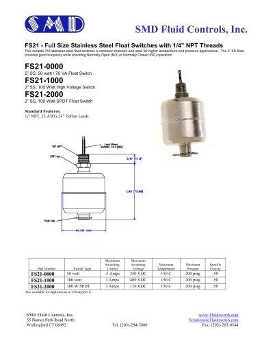 FS22 - Oil / Water Float Level Switch