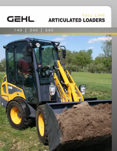 Articulated Loaders Full Line Gehl Pdf Catalogs Technical