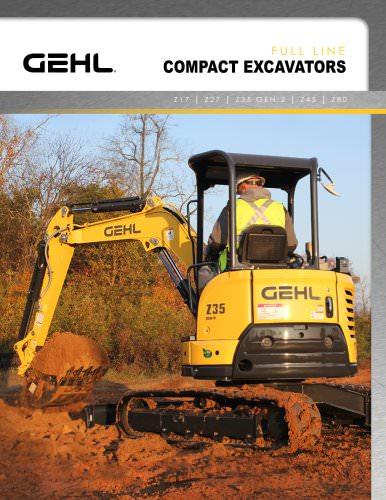 Compact Excavator full line