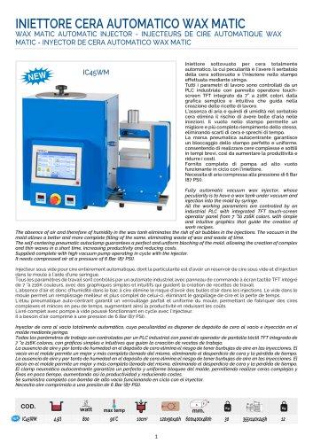 WAX MATIC AUTOMATIC INJECTOR - INJECTEURS DE CIRE AUTOMATIQUE WAX