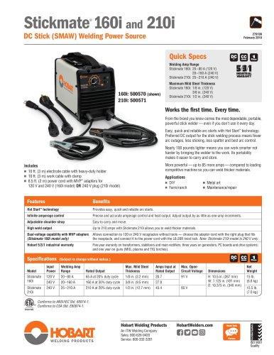 Stickmate® 160i and 210i