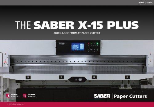 THE SABER X-15 PLUS