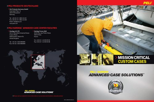 Peli-Hardigg Advanced Case Solutions brochure 2012