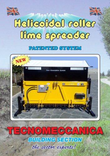 Helicoidal roller lime spreader