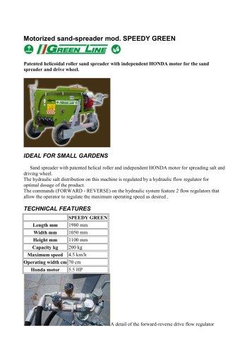Motorized sand-spreader mod. SPEEDY GREEN