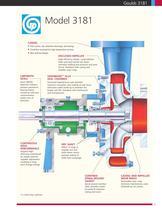 Goulds 3181 High-temperature/Pressure Paper Stock/ Process Pumps - 3