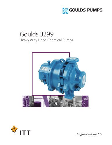 Goulds 3299 Heavy-duty Lined Chemical Pumps