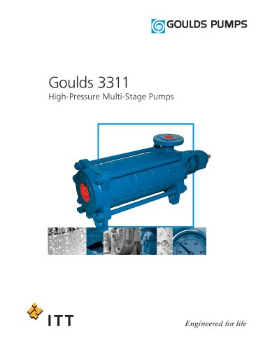 Goulds 3311 High-Pressure Multi-Stage Pumps
