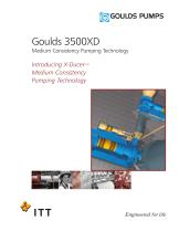 Goulds 3500XD Medium Consistency Pumping Technology - 1